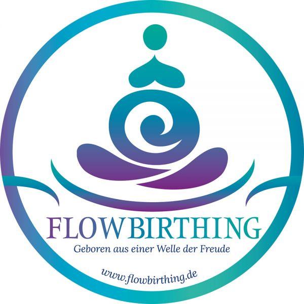 FlowBirthing Aufkleber 14 cm Durchmesser (outdoor)