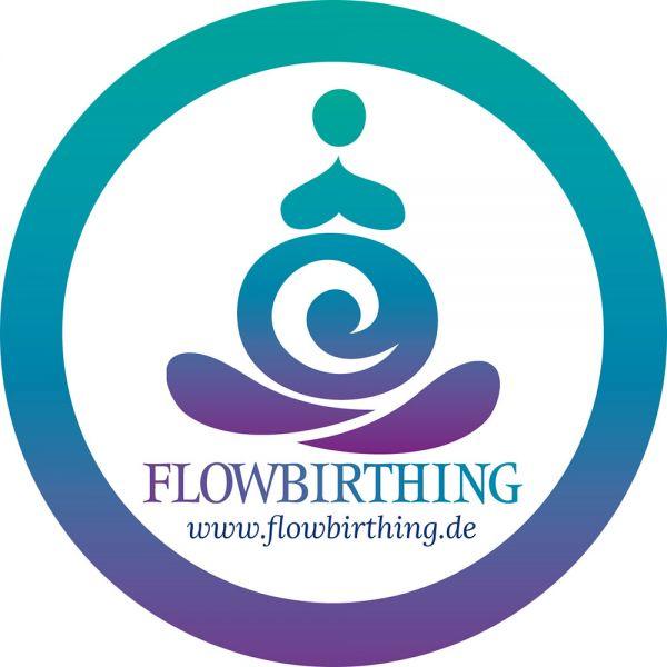 FlowBirthing Aufkleber 3 cm Durchmesser (indoor)