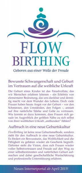 FlowBirthing Flugblatt DIN lang zum Internetportal